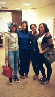 Three of my favorites. My two sisters, Brittany & Kendra, and my favorite cousin Renetria. – View on Path.