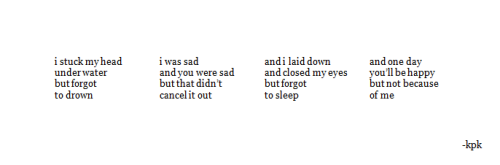 p-ores:  -loner:   horizontal poem  this is perfect. i don't know what else to say  This really is perfect