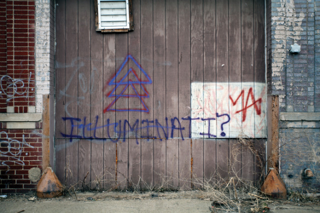 "reckon:  Scott Hocking, ""Illuminati?"" in ""Bad Graffiti"" (2012)  http://hyperallergic.com/66057/an-appreciation-for-the-often-hilarious-usually-horrible-world-of-bad-graffiti/"