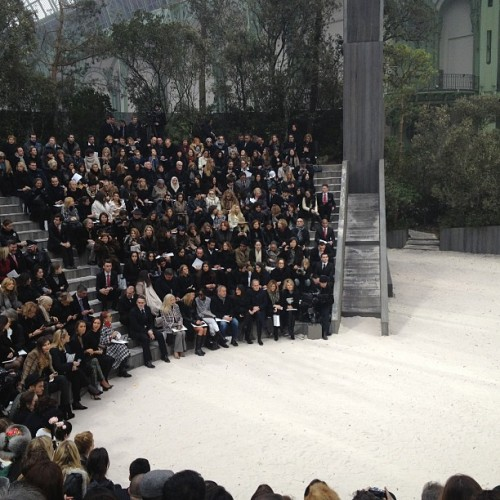 The @chanel couture amphitheatre  (at Grand Palais)