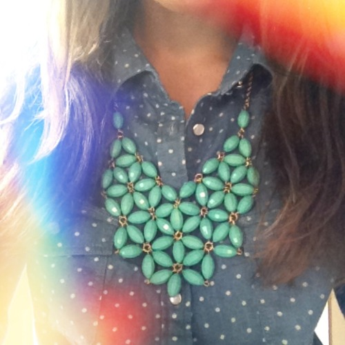 jadorejcrew:  New addition to the statement necklace family