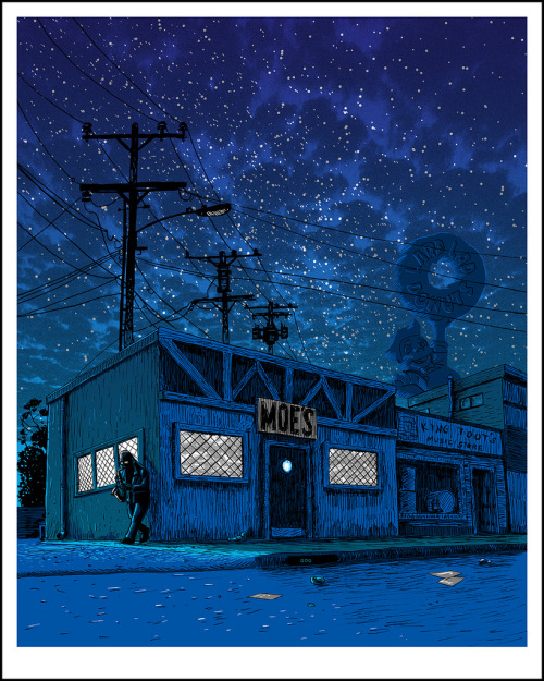 spokeart:  Limited edition screen prints by artist Tim Doyle, inspired by the streets of Springfield (the Simpsons.) Check out the entire collection in our online store here, and be sure to follow Tim on Tumblr here!