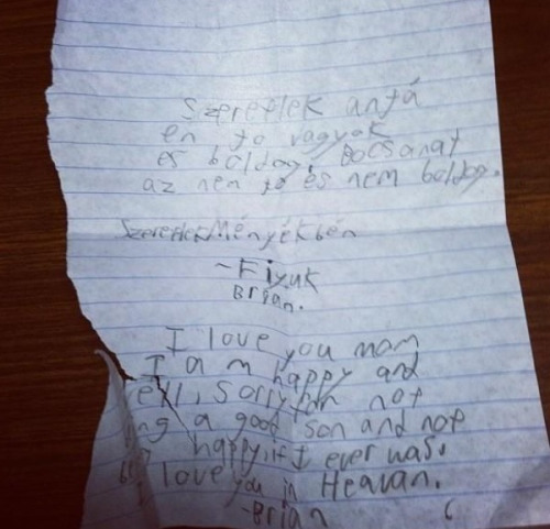 one of the kids that got shot and died wrote this during the lock in.