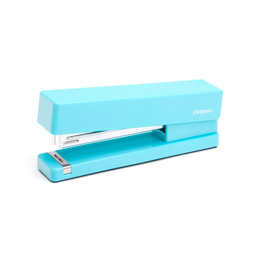 Bright ass aqua stapler by poppin. Purchase here for $14!