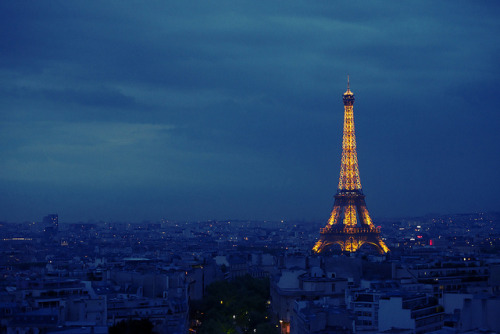 Eiffel Tower at Night by MichaelSPetit on Flickr.