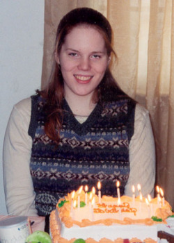 Jumping on the bandwagon… this is me on my 18th birthday (in 2001).