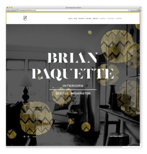 Today we launched brianpaquetteinteriors.com  for interior decorator extraordinaire, and good friend, @Brian_Paquette. Congrats Brian!