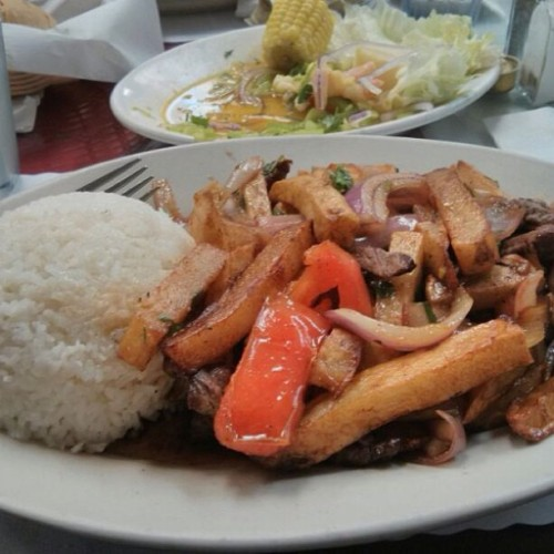 Too lazy to make a good picture I'm too hungry! #peruvianfood #marios #omgimissthis #awesome #foodporn #food