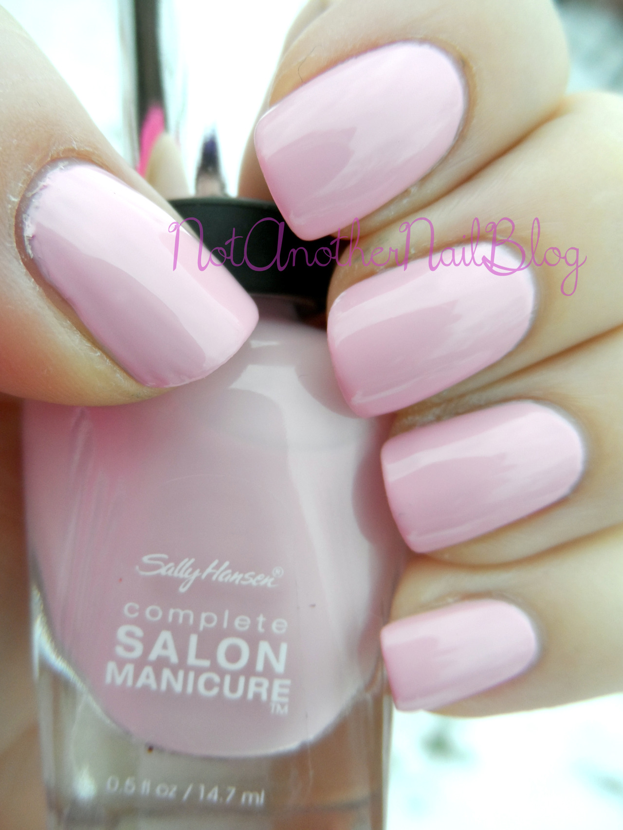 Pink a Card is another of the new reformulated Sally Hansen Complete Salon Manicure line, and it's a lovely creamy soft baby pink.  It's just a darling color, very work appropriate and I think it would be a fantastic base to some nail art. When I first saw it I thought it would be close to Pink Friday from the Nicki Minaj collection from OPI, but it's actually much lighter, certainly in the same family, but not a dupe at all. If you'd like to try these out, you can order them here, here, or you can usually pick them up at your local drug store for about $7.99 but they go on sale often.       Disclosure- Products were provided to me by the manufacturer for my opinion and honest review. See here for more information.