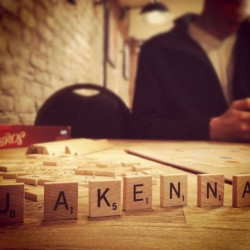 #latergram. Scrabble at The Brooklyn Strategist last weekend. I'm so vain :)