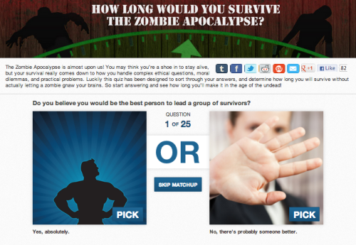"How Long Would You Survive The Zombie Apocalypse? It's a question worth asking, because those Mayans were SUPER unspecific about what kind of ""end of the world"" is about to go down."
