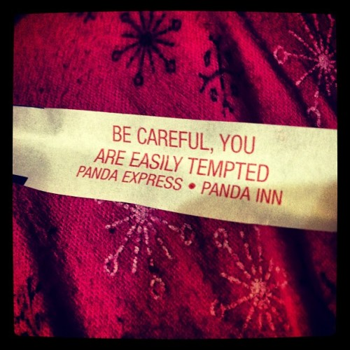 bingo. nailed it. #love #temptation #fortunecookie (at Capistrano)