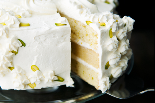 bakeddd:  pistachio almond cake click here for recipe