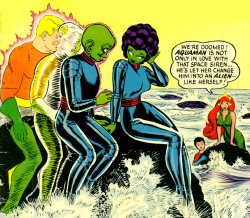 superdames:  WE'RE DOOMED! —Aquaman #16 (1964) cover by Nick Cardy