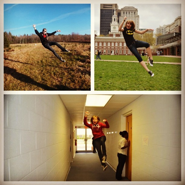 Things that I enjoy doing in pictures: jumping and making faces. Yes.