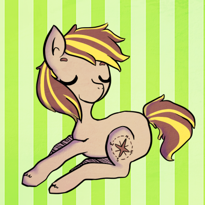 emberwisp:  banana horse!  The banana-colored highlights are the new official colors.  This is sooo good, wisp! You did an amazing job; I love it!
