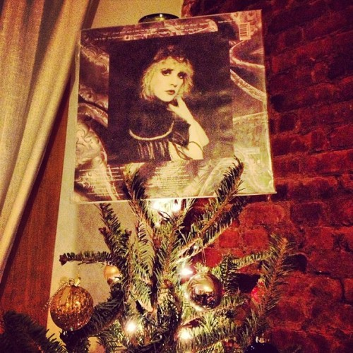 stevie nicks tree topper (at 360 Franklin Ave)