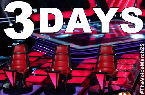 nbcthevoice:  3 Days to Blind Auditions!