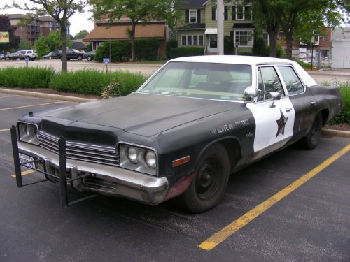 "74 Dodge Monaco from the Blues Brothers.Driven by John Belushi and Dan Aykroyd. ""440 inch plant, cop tires, cop suspension, cop shocks, no catalytic converter…."" who wrote this stuff……awesome"