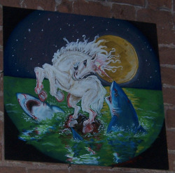 unicornwolflazersfuckyou:  fuck yea unicorns    fucking right unicorns are real. they kill motherfucking sharks while no one is watching. thats why some surfers who get attacked by sharks feel safe to go back in the water, theyre believers.