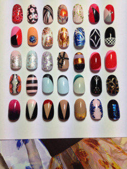 The Illustrated Nail for Dior… Some initial nail design ideas I made for the House of Dior take over at Harrods… All inspired by the S/S13 Raf Simons Dior courture collection.
