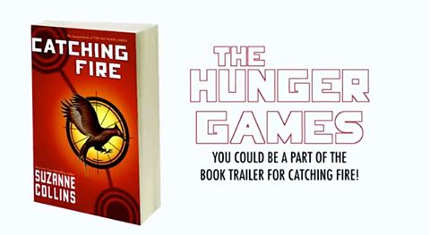 LAST CHANCE! - Share why you love The Hunger Games and you could be part of Scholastic's new official Catching Fire Book Trailer. You can find out more information with this video here. There's also more information in the description below the video.