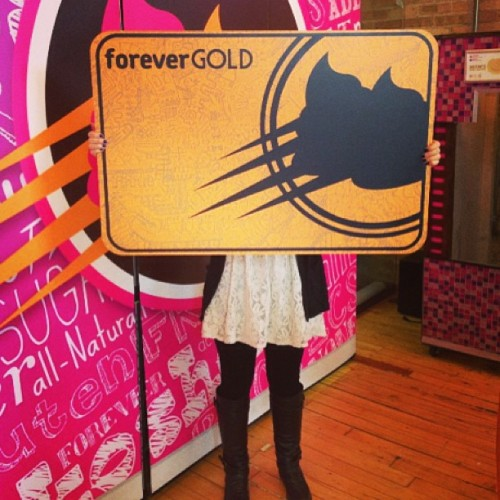 Giving away this #foreveryogurt #goldcard tonight! @foreveryogurt