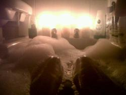 This was actually so relaxing, I have my lovely sister to thank for this bath, bubbles&candles, aw she's so sweet<3