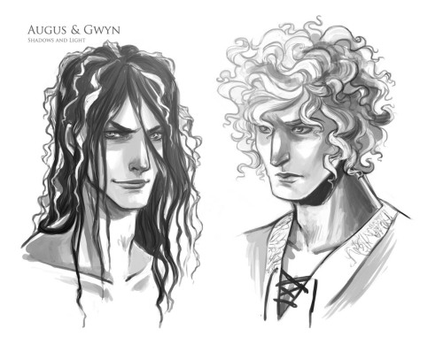 not-poignant:  fanartdrawer:  Because of reasons.Augus and Gwyn from Shadows and Light by not-poignant  Okay it's like, a dream come true, because this is Gwyn and Augus as I see them, pretty much, and also, omg, they are OCs, and I just, I dslkjfdklsa daslkfjaslfkjalf j AMAZING. AHHHHHHHH I'm so incoherent in the morning, but this is just AMAZING.  YES short haired Gwyn!  Oooooo these are just…wow.  Now my version of Gwyn will pale in comparison…*posts anyway*