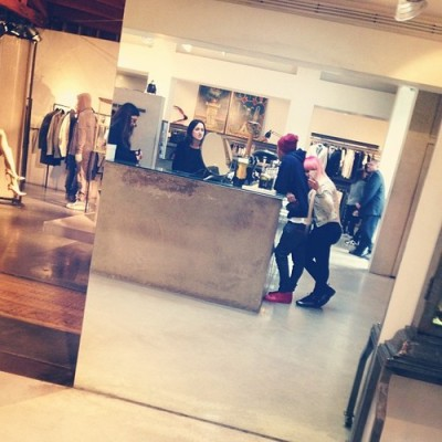 Tyga + his baby mama Blac Chyna out shopping.