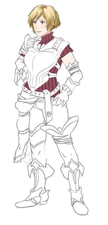 Oh, here's an old wip that I may never finish of myself in the Fire Emblem: Awakening style. I need to fix a lot of things…