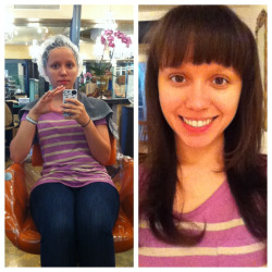 Long overdue hair treatment & cut :)