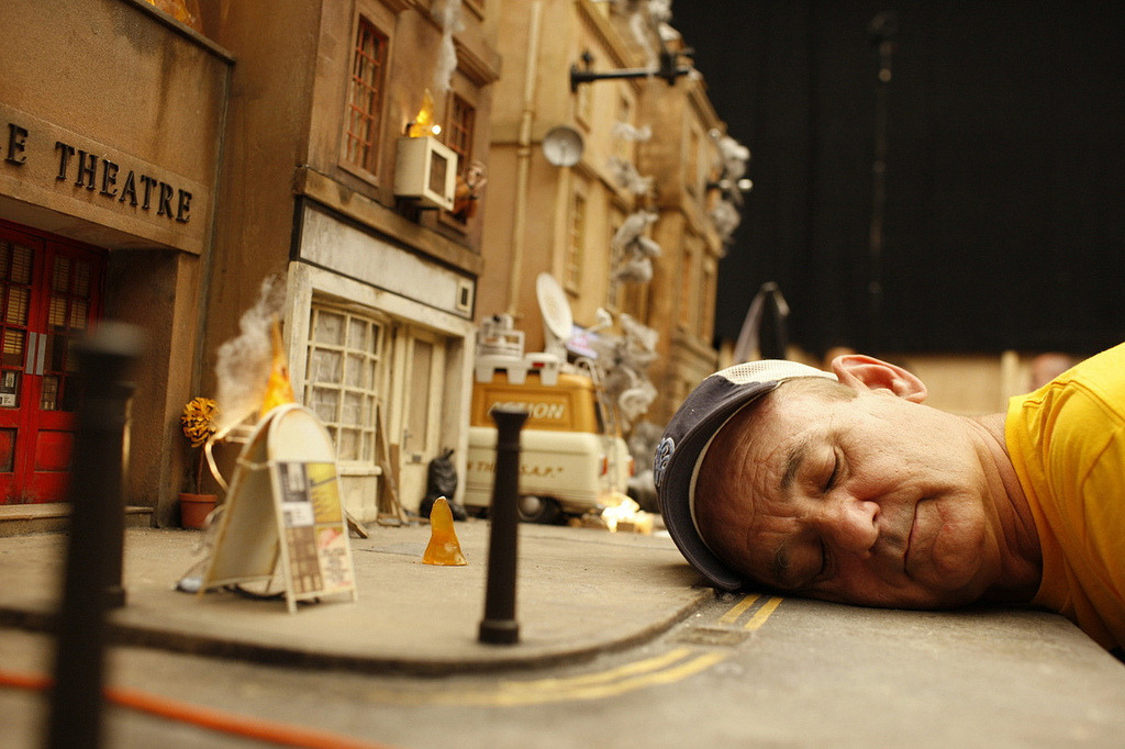 suicideblonde:  Bill Murray on the set of Fantastic Mr Fox