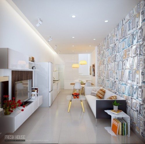 homedesigning:  (via Chic Contemporary Spaces Rendered By Anh Nguyen)