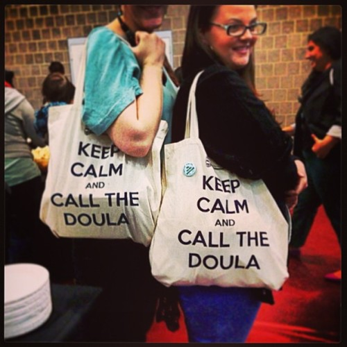 ruhnay:  #doula swag #CLPP2013 (at Hampshire College)  LOVE these bags so much I had to track down where to get them.