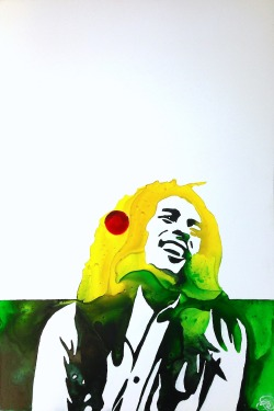 eatsleepdraw:  Marley Watercolor on YUPO Paper