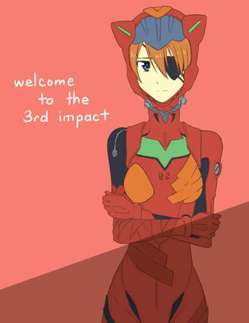 idylliccommotion:  I really love Asuka's designs. Do I tag as Shikinami or Soryu or both huh… I'll add shading later. I probably have to redo the whole thing anyways since it's too small to be a print or poster. ;u;  From art blog.