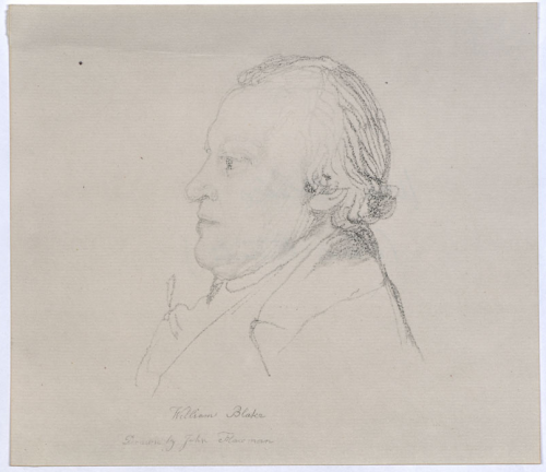 John Flaxman, Portrait of William Blake, ~1804.m Blake, ~1804.