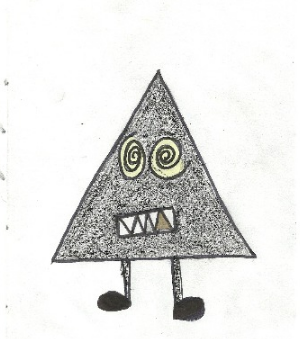 Triangle Man Illustration