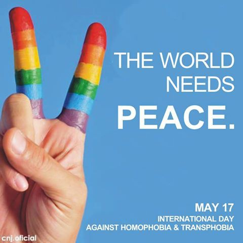 gaywrites:  International Day Against Homophobia and Transphobia. May 17, 2013.