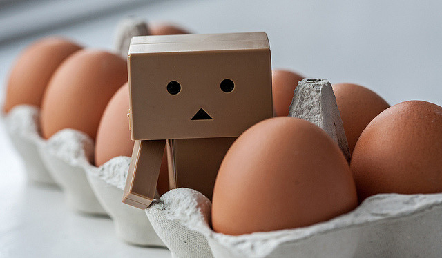 Who came first? Danbo or the egg? by Peter Bros Nissen on Flickr.