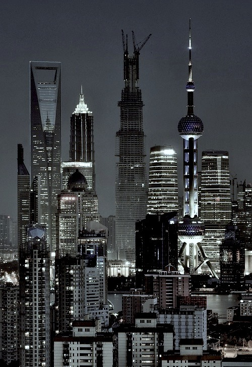 neuromaencer:  Tops of Shanghai (Explore 2013-05-02) /魔都之巅 by Brady Fang on Flickr.