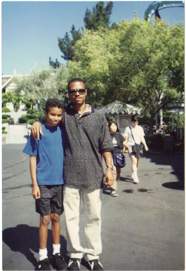 Me & my uncle back in '96. Smh@ them knees