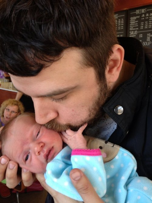 hotdadsoftheworld:  Dad of the month #1, March 2013. Max Bemis was born in New York City on April 6th, 1984 (age 28). In 2000, Say Anything was founded where Max has been the lead singer, guitarist, and primary lyricist since the very beginning. Max's wife, Sherri Dupree of the band Eisley, gave birth to their first child, Lucy Jean, on February 11th, 2013. Max's Twitter  YAYYY BABY LUCY AND DADDY MAX.i love the bemis fam. :)