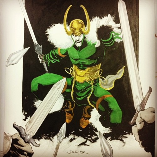 danielhdr:  Finished: #LOKI commission  - #marvel #comics #marvelcomics #copic #markers @copicbrasil @copicmarker  Loki!! I didn't draw this lol just thought it was awesome