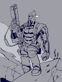 Cable! Superhero week presses on. Been needing to get this guy out of my system  for a while now. Drawing here. Original for sale here.
