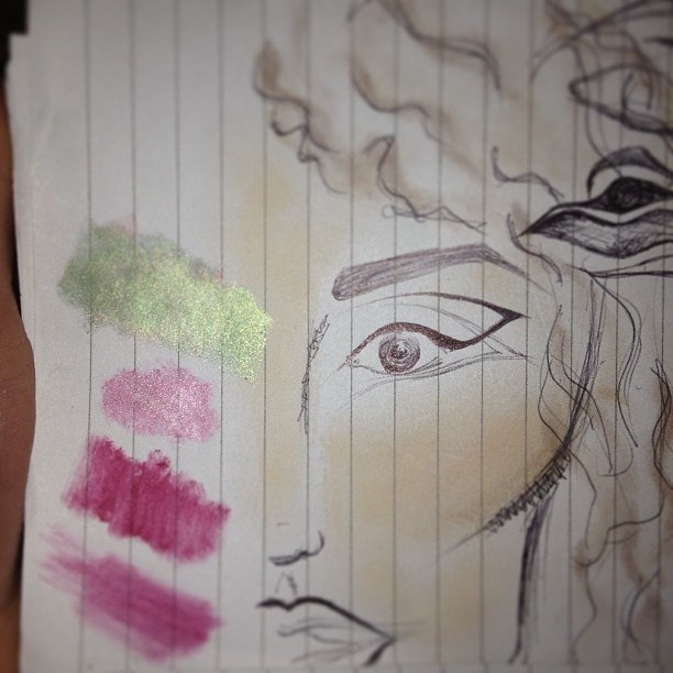Rough #sketches of #faceplans for #fashion #shoot #dramatic #eyeliner #colourswatch #kett #highlighter #bennye #contour #barrym #lipstick #dazzledust #highstreet #illamasqua #precisionink #drawing #makeup #undecided #InNeedOfCartidgePaperAndADecentHBBruh #word #gangsta #sockittoya