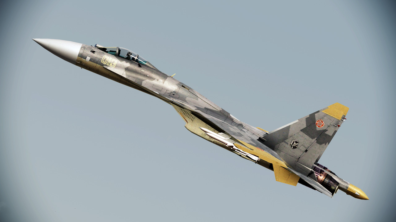 bryskye:  Yellow 13 - The Erusian Ace of Aces.156th Tactical Fighter Wing Aquila. Ace Combat 04 - Distant Thunder (Shattered Skies in the US) was the major breakthrough moment in the series that has defined how the games have told their stories, as well as the gameplay format, ever since. Well, until Assault Horizon of course. Yellow 13 is, to this day, perhaps the most memorable enemy ace to have graced the series, in no small part because he wasn't actually a bad guy, nor did he have any animosity towards the player. The games cutscenes largely feature him and not the player character, so we understood who he was before actually encountering him in combat. He was deeply honourable and developed nothing but the deepest respect for the player character, Mobius 1. The Yellow 13 livery (along with Mobius 1's ISAF F-22A) has appeared in every Ace Combat game since Ace Combat 04, even the ones that do not feature the Su-37. For example, in Ace Combat 6 it was released as a DLC skin for the Su-33.Assault Horizon went one better and made the actual Su-37 itself, along with the livery, as DLC. It's quite possible that it was Ace Combat 04 and the Yellow Squadron that are responsible for introducing the Su-37 and it's super maneuverability to an audience beyond hard-core aviation enthusiasts. It was, after all, only a prototype best known for stunning crowds at a few airshows by performing maneuvers thought impossible.It even went on to make an appearance in Sony's rather… lackluster… no, let's be honest, shite movie: Stealth. To this day, many people believe the Su-37 to be the ultimate version of the Sukhoi Flanker family, even though in reality it's capabilities are far surpassed by the Su-30MKI and Su-35BM.