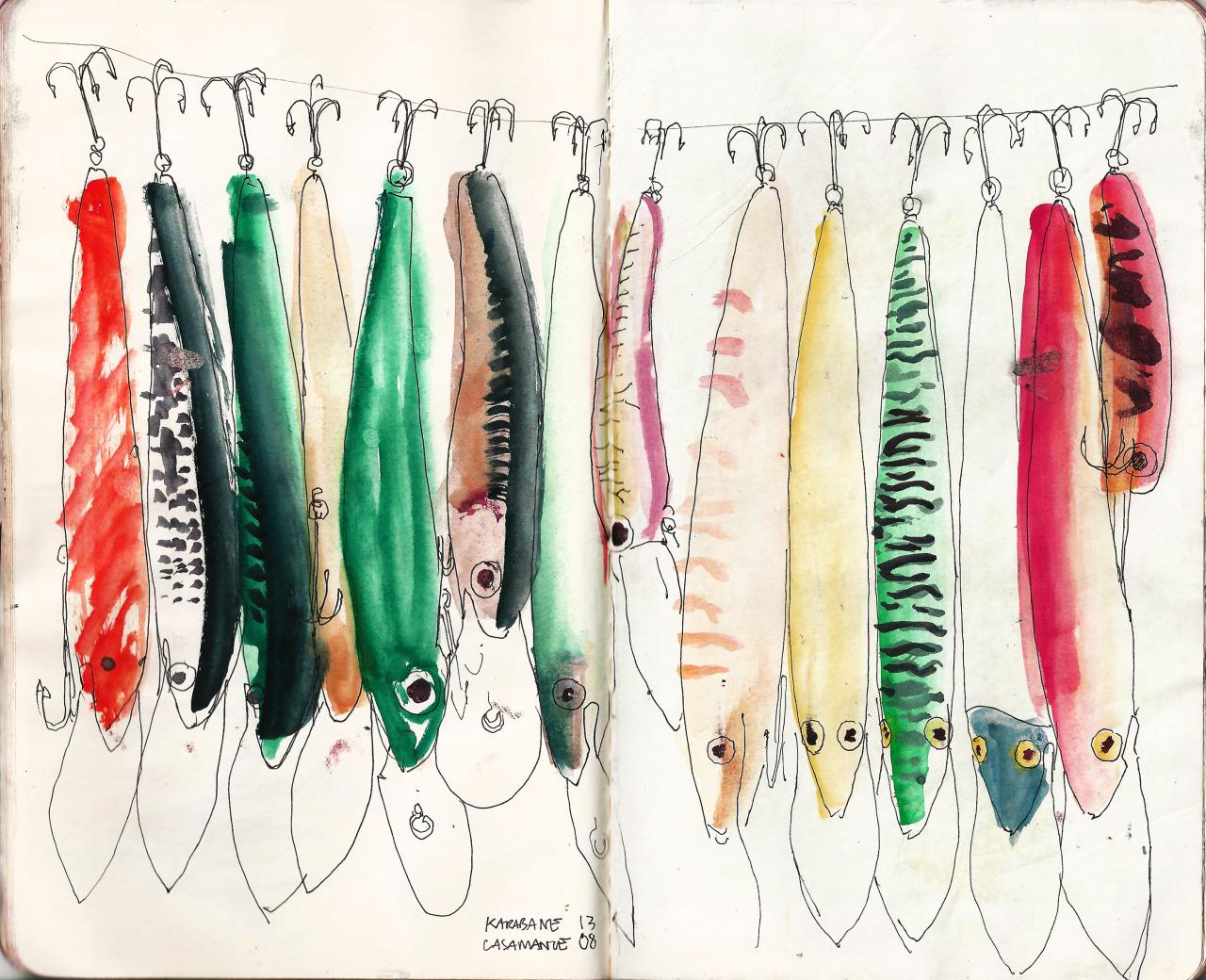 noteathing.tumblr.com Fishing Lure. Karabane. Senegal 2013