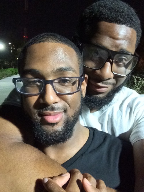 intelligencexpressed:blackvoiceroyals:Me and my love (goes bang bang bang!) this time it's for real. He leaves for grad school tomorrow. Smart and fine as shit!!!!!!! Stay tuned for the adventures of Levi &amp Benjamin. 😍🙌👬❤️💋💍💎I'm ready for the adventure love :-) This WILL NOT stop